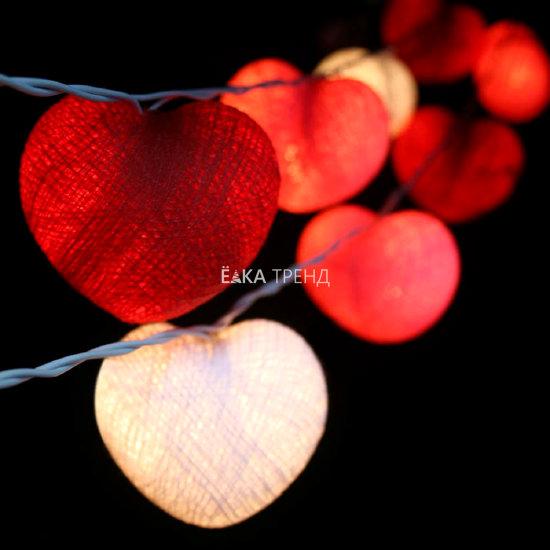 Гирлянда сердечки Валентайн из ниток