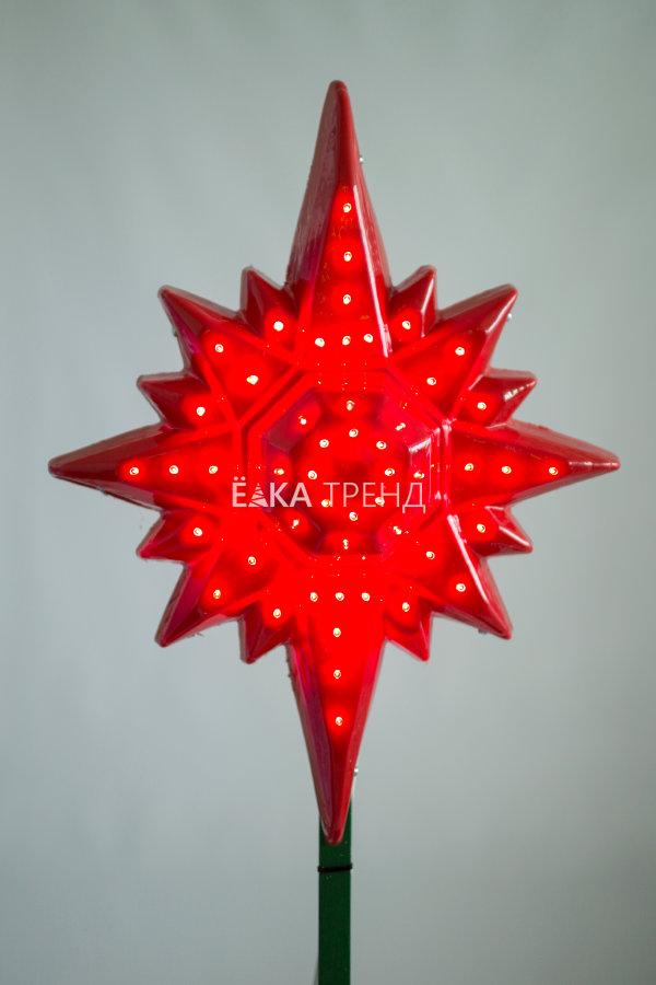 Макушка для ёлки Полярная звезда световая