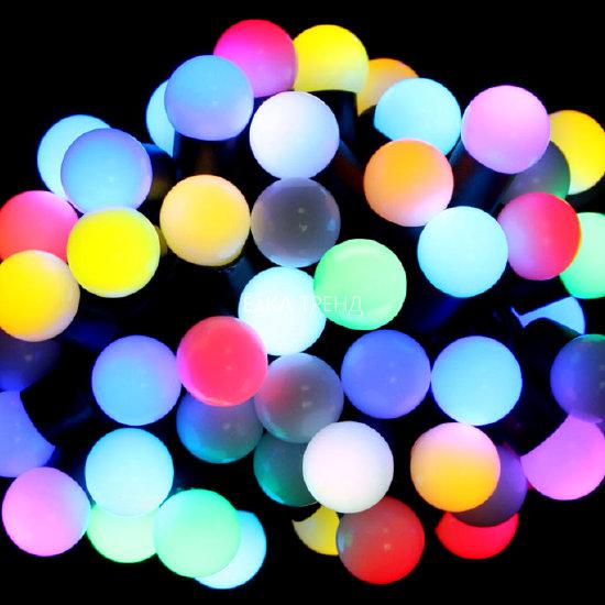 Светодиодная гирлянда Большие Шарики RGB с мерцанием