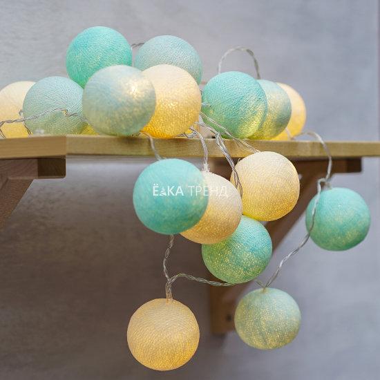 Светодиодная гирлянда Тиффани тайские шарики