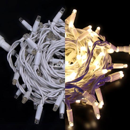 Светодиодная гирлянда Rich Led Нить 24V с колпачком цветной резиновый провод