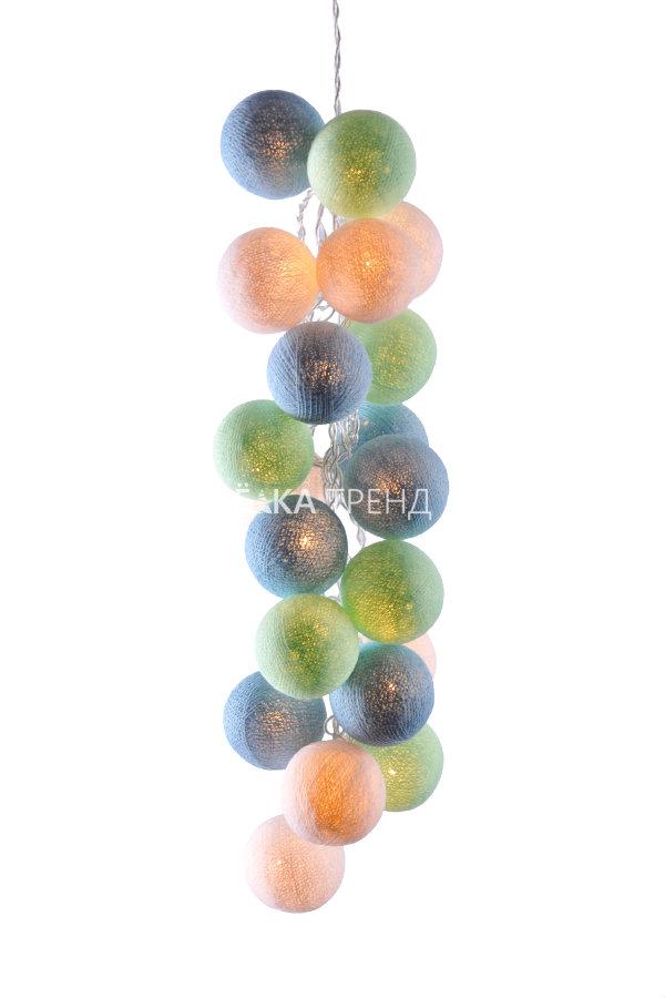 Светодиодные шарики Мистраль из хлопковых ниток