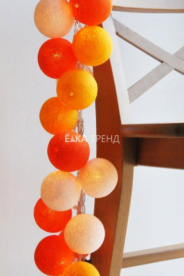 Тайская гирлянда Апероль шарики из ниток