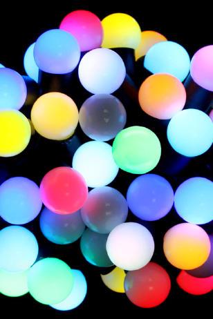 Комплект гирлянд Шарики 23 мм мульти RGB