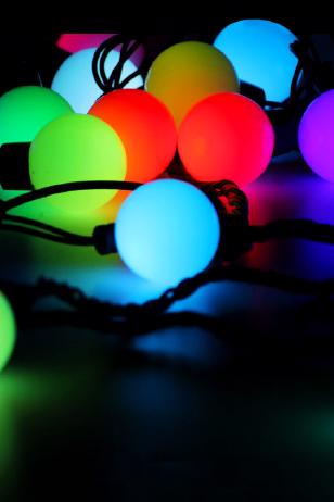 Комплект гирлянд Шарики 40 мм мульти RGB
