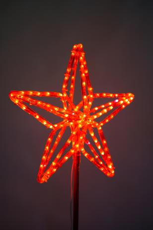 Макушка для ёлки Кремлевская звезда световая
