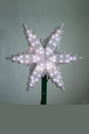Макушка для ёлки Снежинка световая