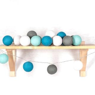 Светодиодная гирлянда Хаски из нитяных шариков