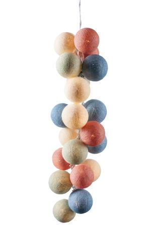 Светодиодная гирлянда Пудра из нитяных шариков