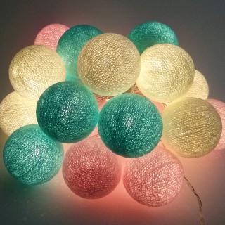 Светодиодные шарики Бабл-гам из ниток
