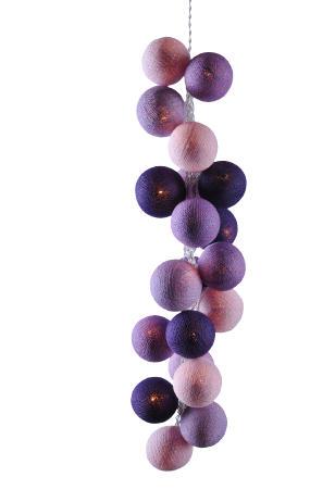 Светодиодные шарики Лаванда из хлопковых ниток