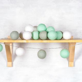Светодиодные шарики Мята из ниток