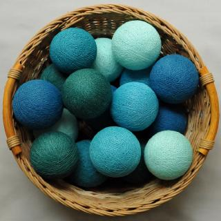 Светодиодные шарики Панг из ниток