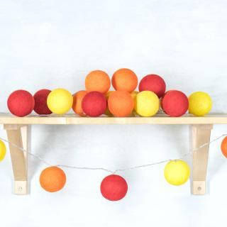 Светодиодные шарики Саламандра из хлопковых ниток