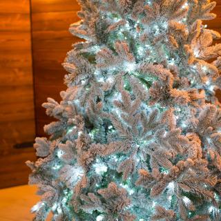 Заснеженная ель Барокко световая